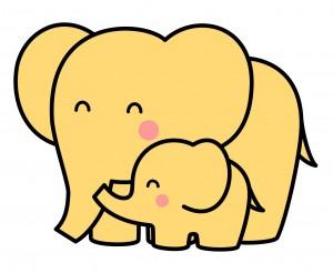 2003_1106_005249-ゾウの親子